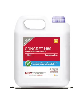 Concret H80 | Laca poliuretánica mate para terminación con filtro UV.